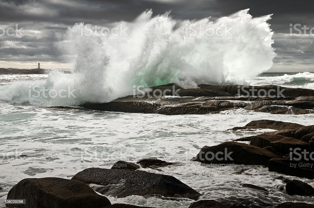 Storm Surf royalty-free stock photo