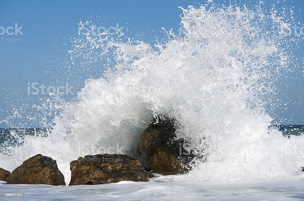 Storm Surf stock photo