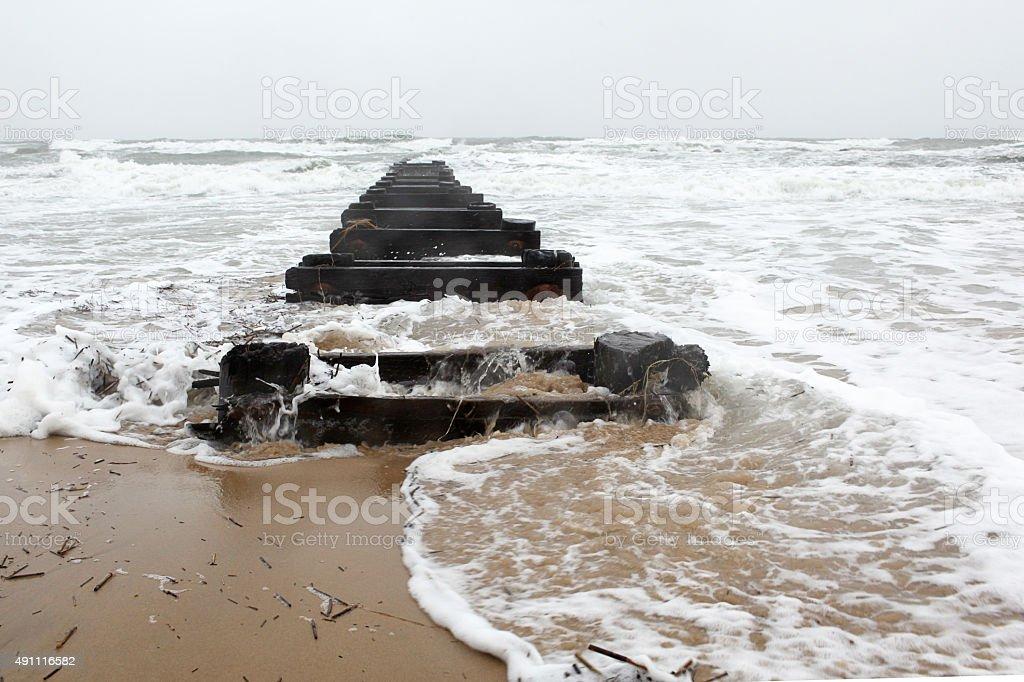 Storm Surge stock photo