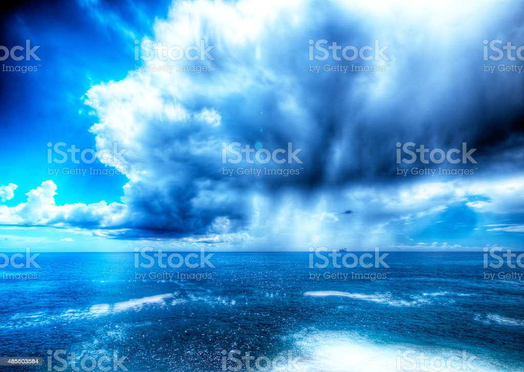 Storm the Ligurian Sea. stock photo