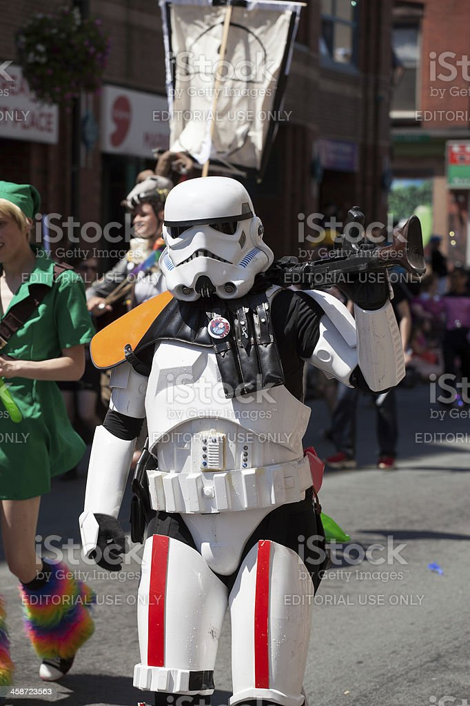 Storm Trooper at Pride Parade stock photo