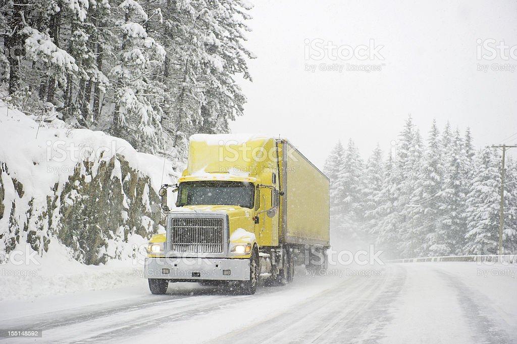 Storm Trucker stock photo