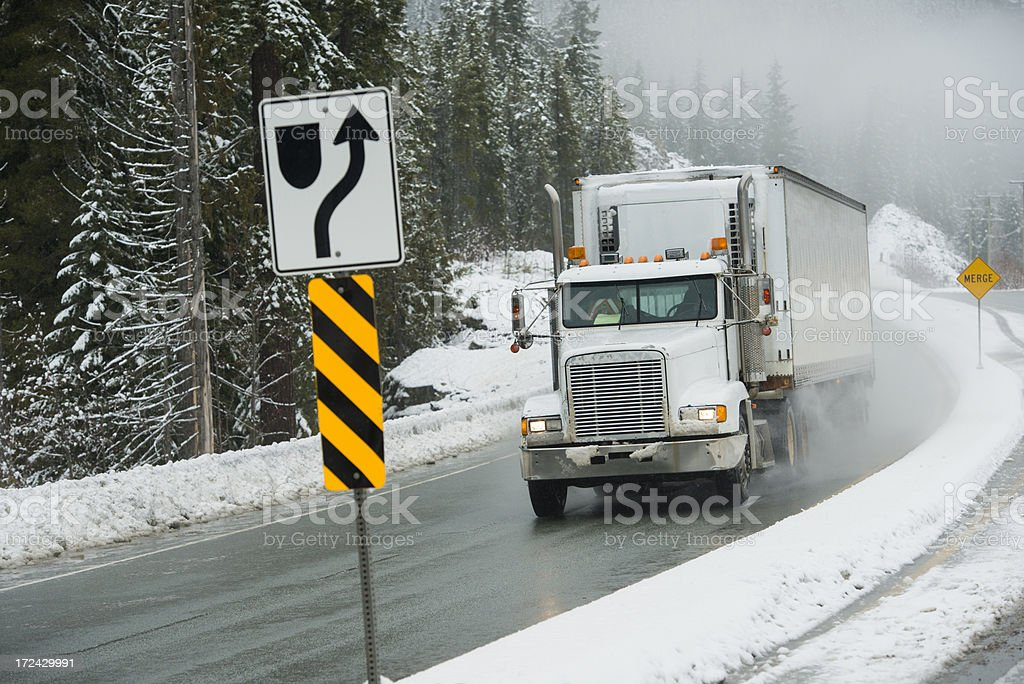 Storm Trucker royalty-free stock photo