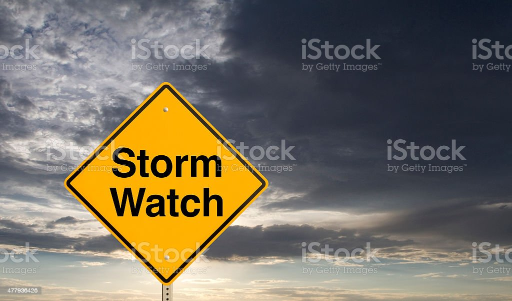 storm watch stock photo