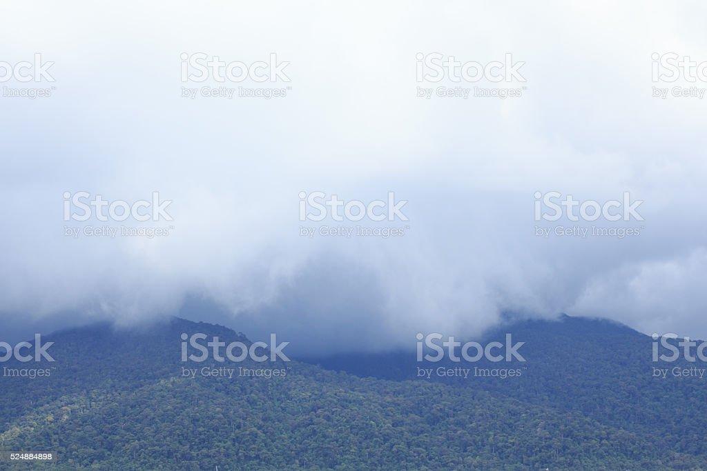 Шторм дождь над белый с острова и море Стоковые фото Стоковая фотография
