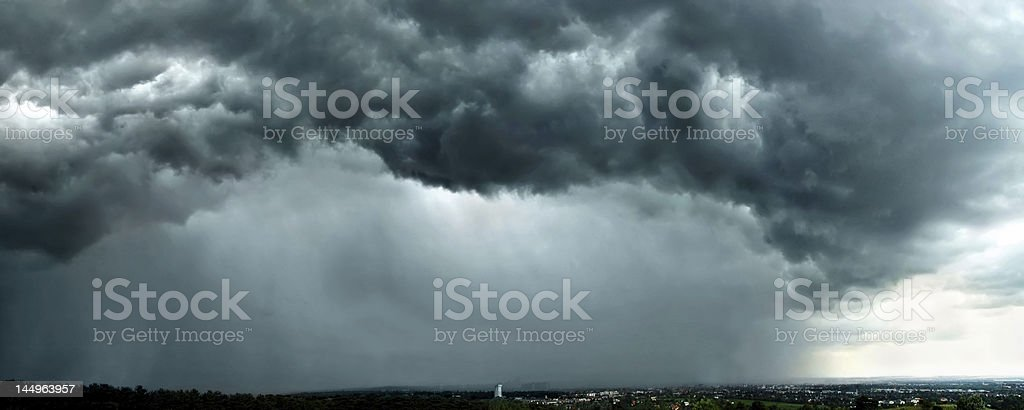 stormclouds over vienna royalty-free stock photo