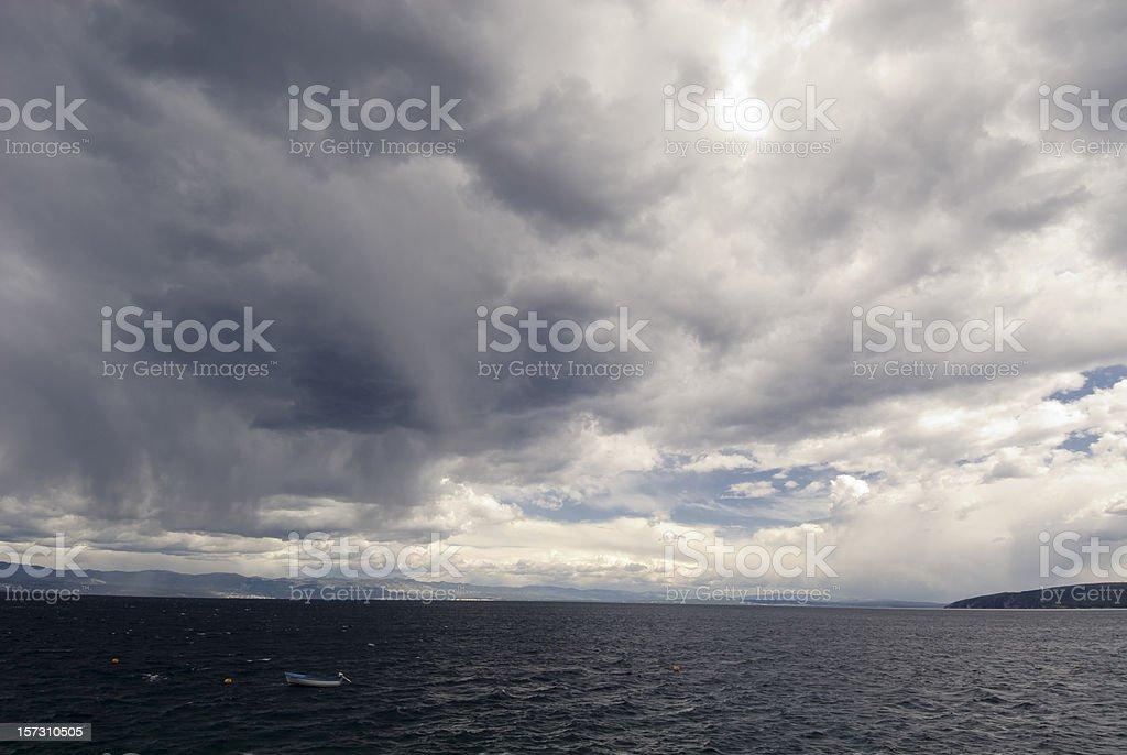 Stormily Sea royalty-free stock photo