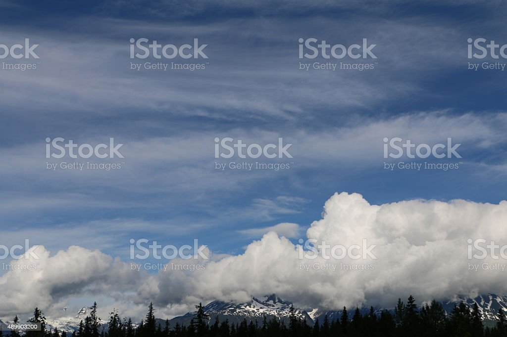 Storms over the Coast Mountains stock photo