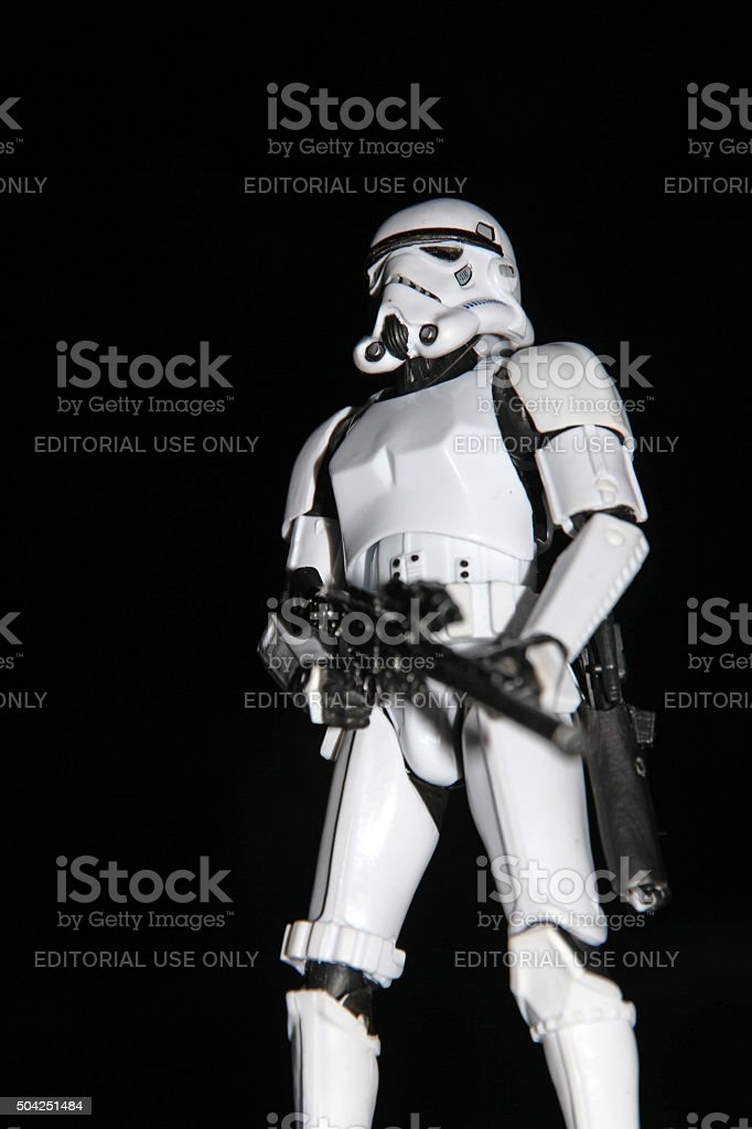 Stormtrooper in the Night stock photo