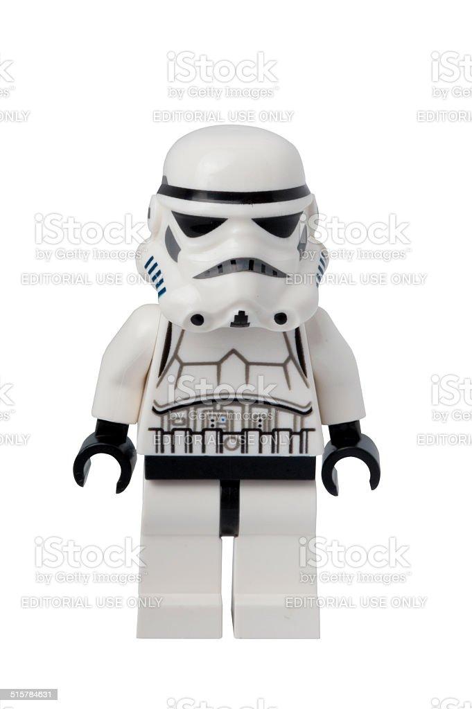 Stormtrooper Lego Minifigure stock photo