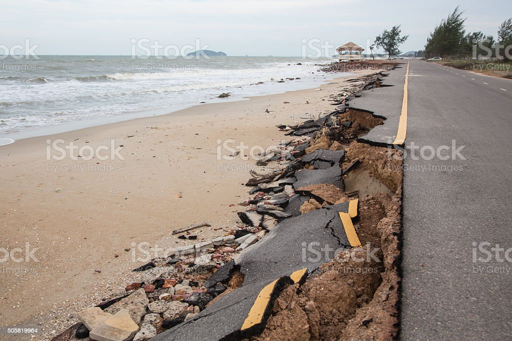 Storm-Wrecked Road stock photo