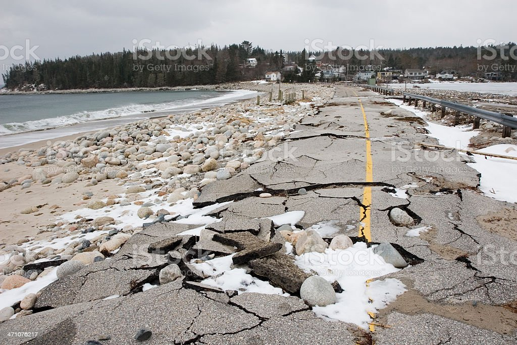 Storm-Wrecked Road series... stock photo