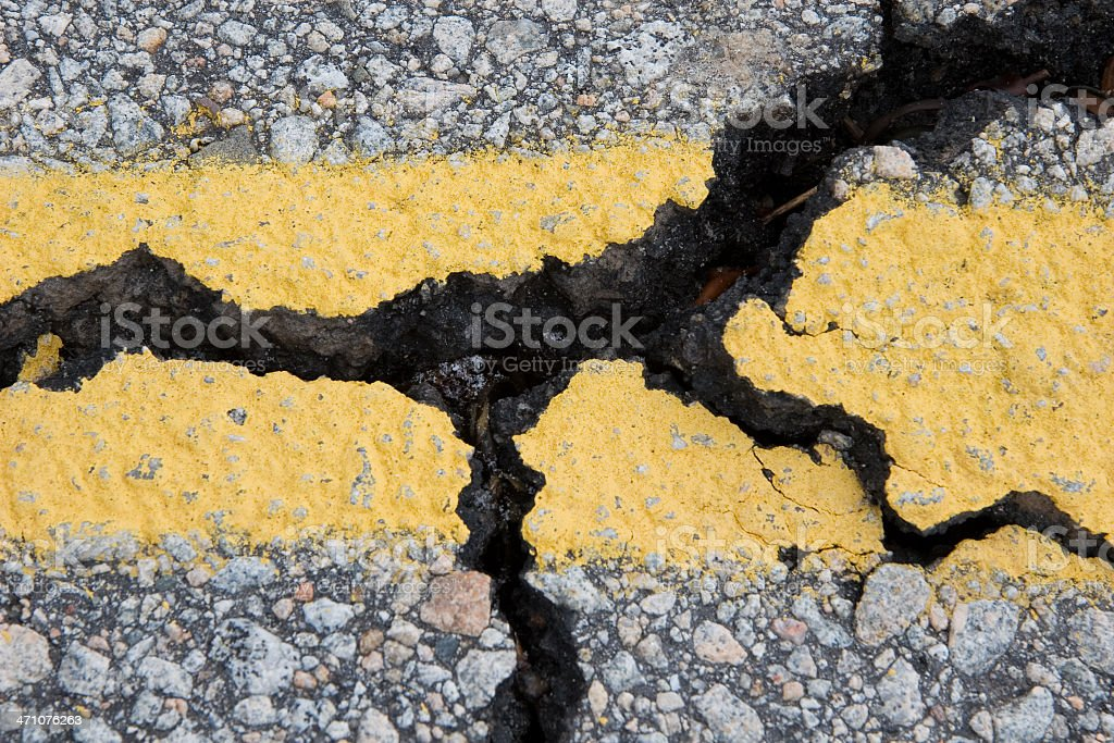 Storm-Wrecked Road series stock photo