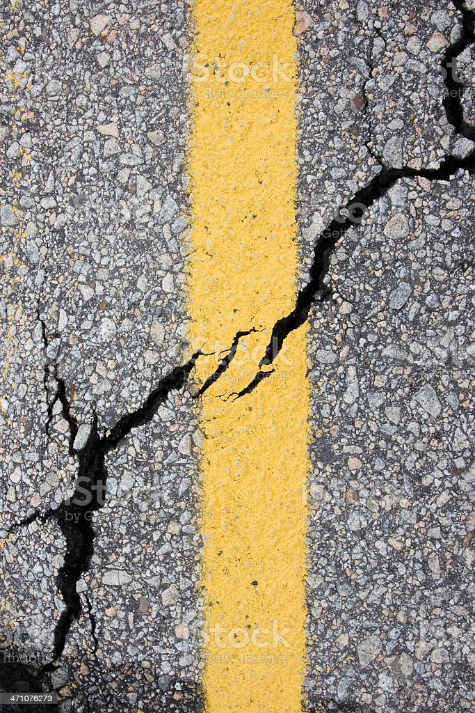 Storm-Wrecked Road series... royalty-free stock photo