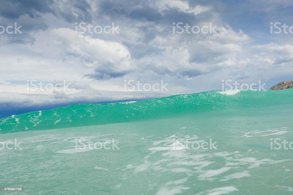 stormy adriatic sea stock photo