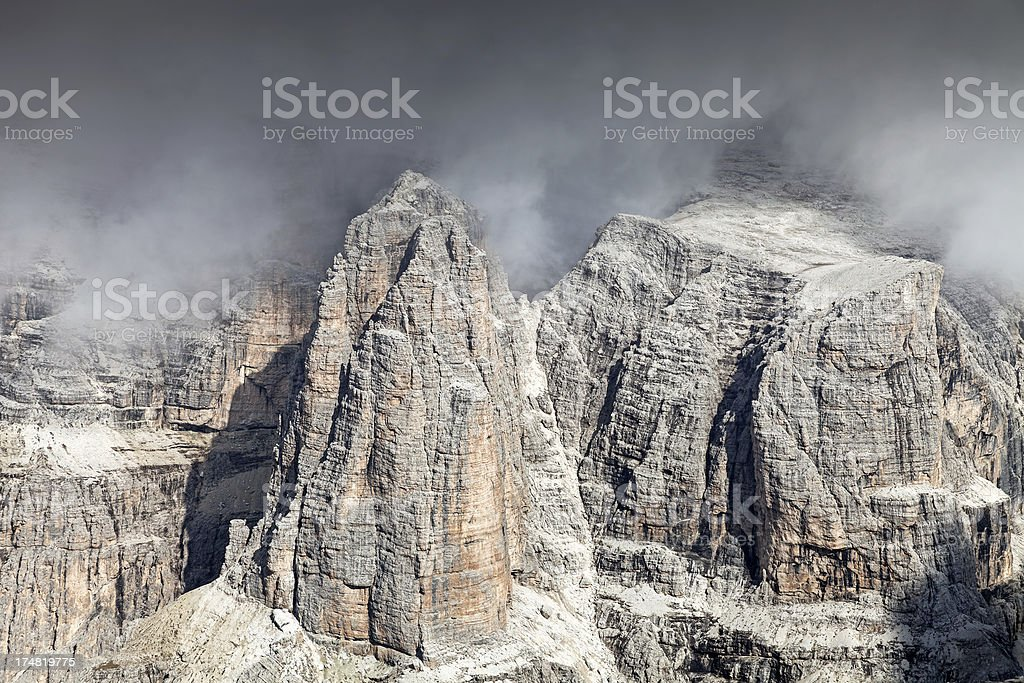 Stormy atmosphere in the Dolomites royalty-free stock photo