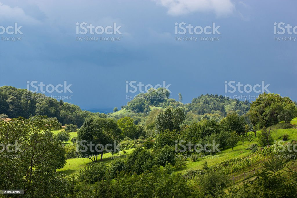 Stormy atmosphere in the Swabian Alps royalty-free stock photo