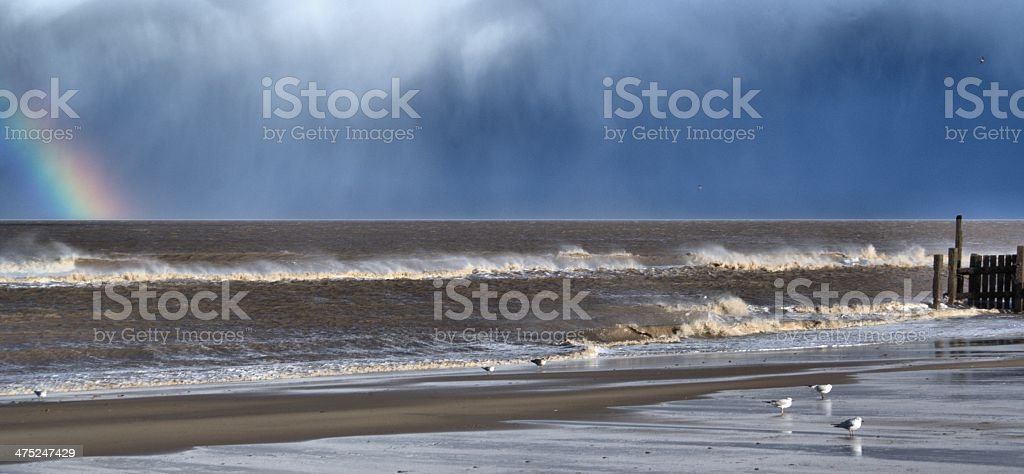 Stormy Beach stock photo
