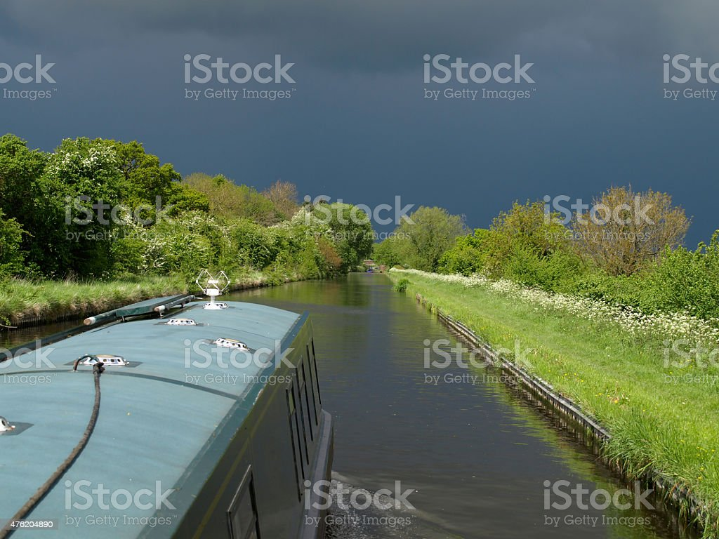 Stormy canal scenery royalty-free stock photo