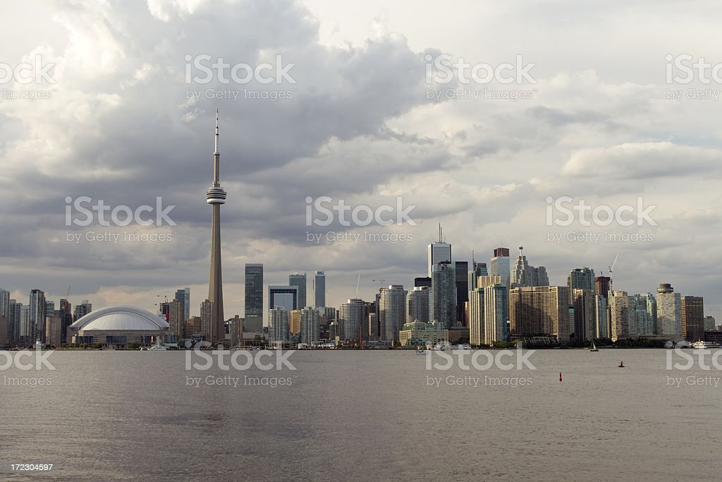 Stormy cloud over Toronto stock photo