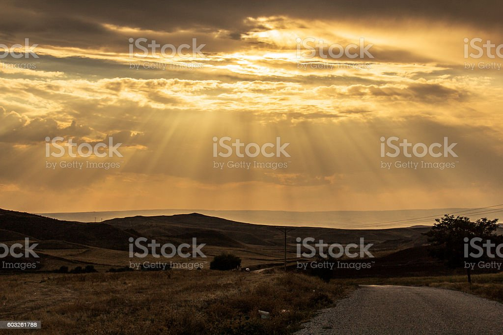 Stormy clouds covering the Çorum stock photo