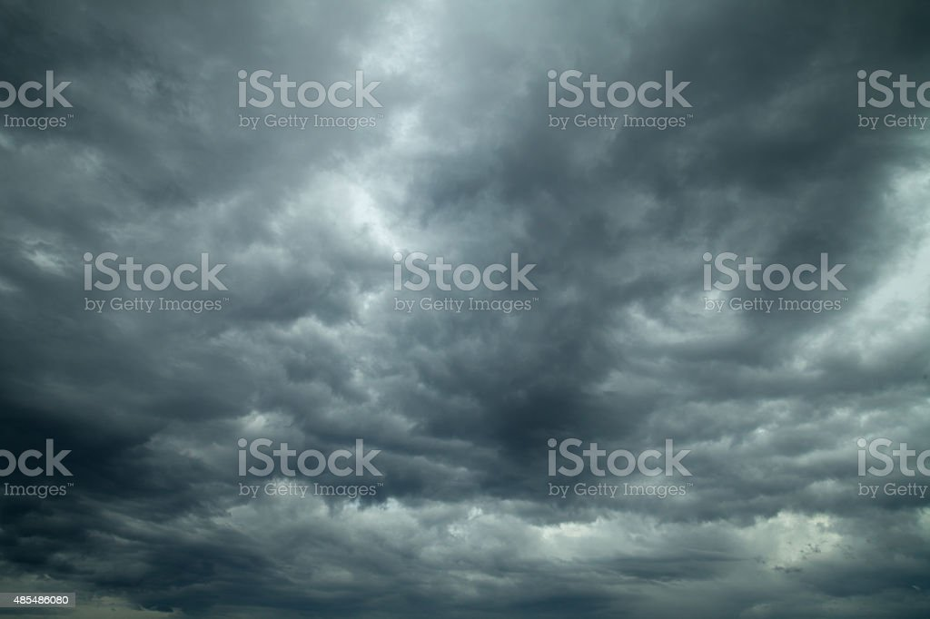 Stormy clouds. Dramatic sky. stock photo