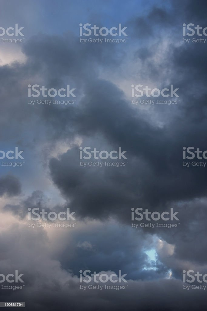 Stormy clouds on summer evening. royalty-free stock photo