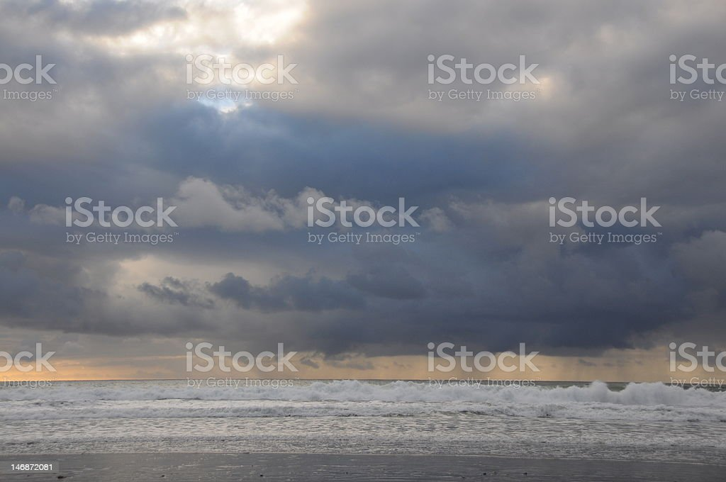 Stormy clouds over the ocean royalty-free stock photo