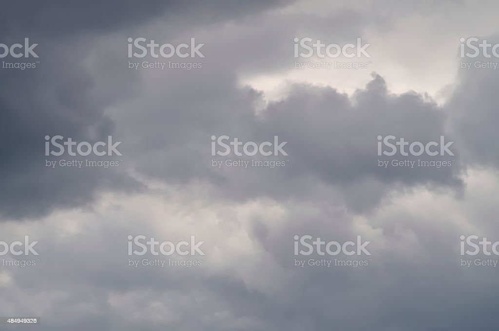 Stormy clouds. stock photo