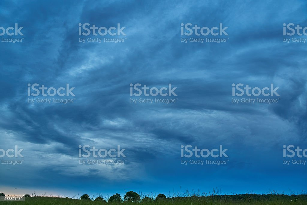 Stormy clouds stock photo