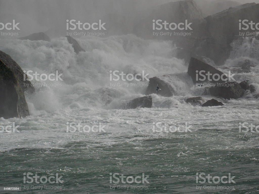 Stormy Crashing Water stock photo