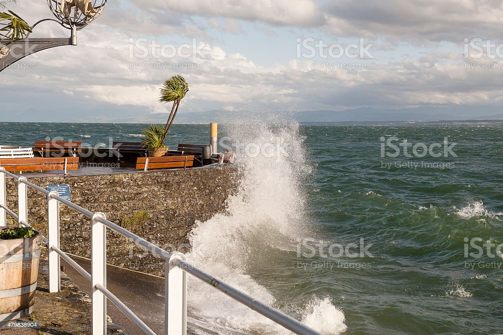 Stormy day at Bodensee royalty-free stock photo