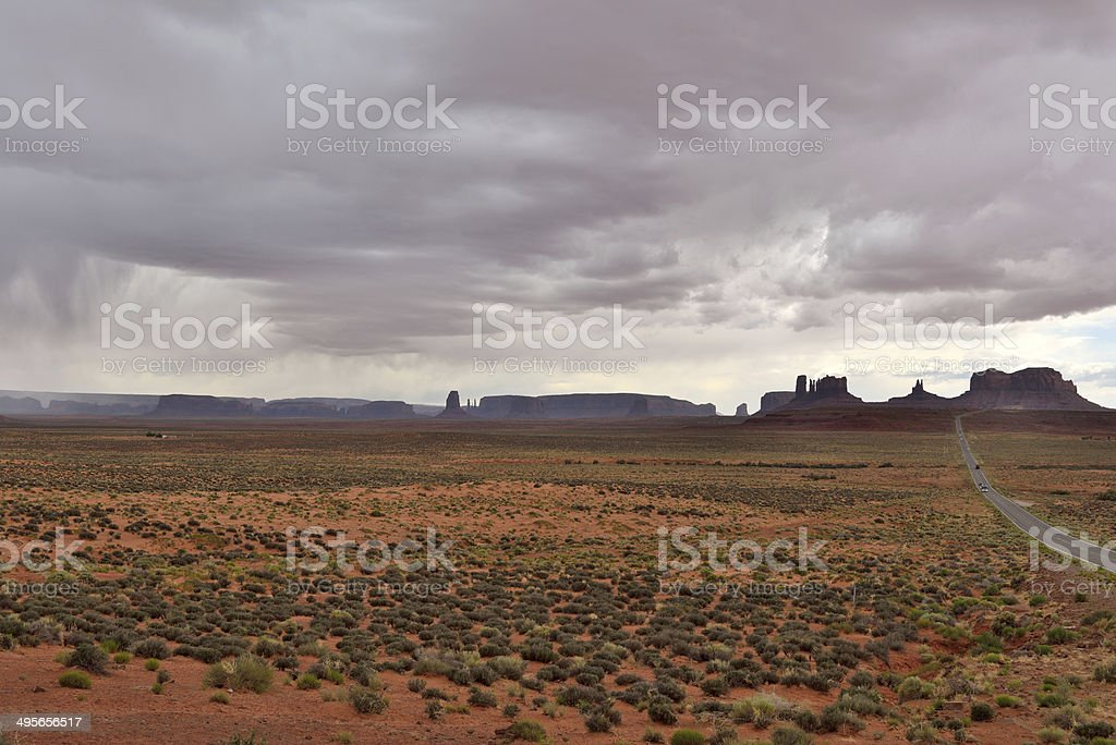 Stormy Day at Monument Vally royalty-free stock photo
