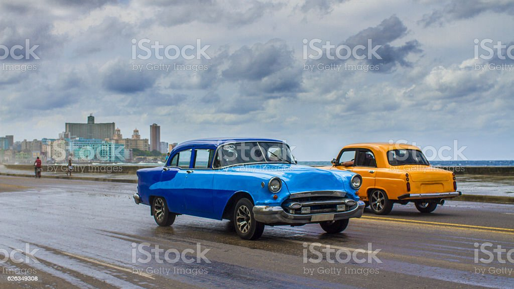 Stormy day on the Malecon, Havana, Cuba stock photo