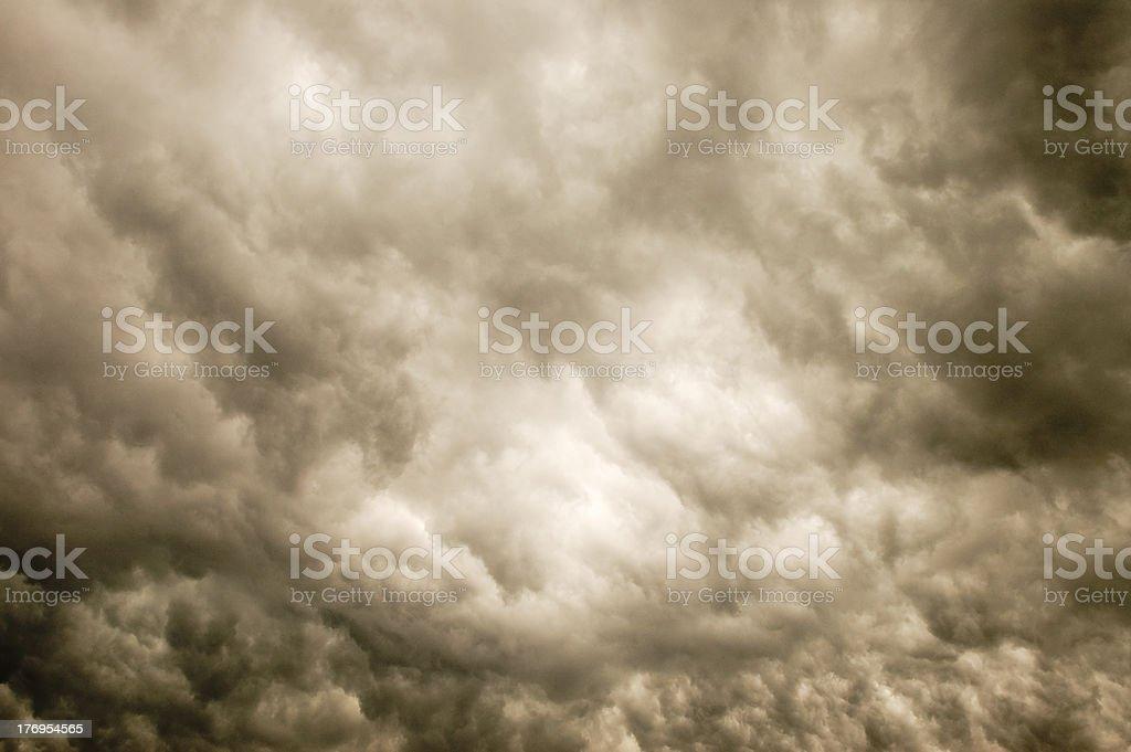 Stormy Day Sky royalty-free stock photo