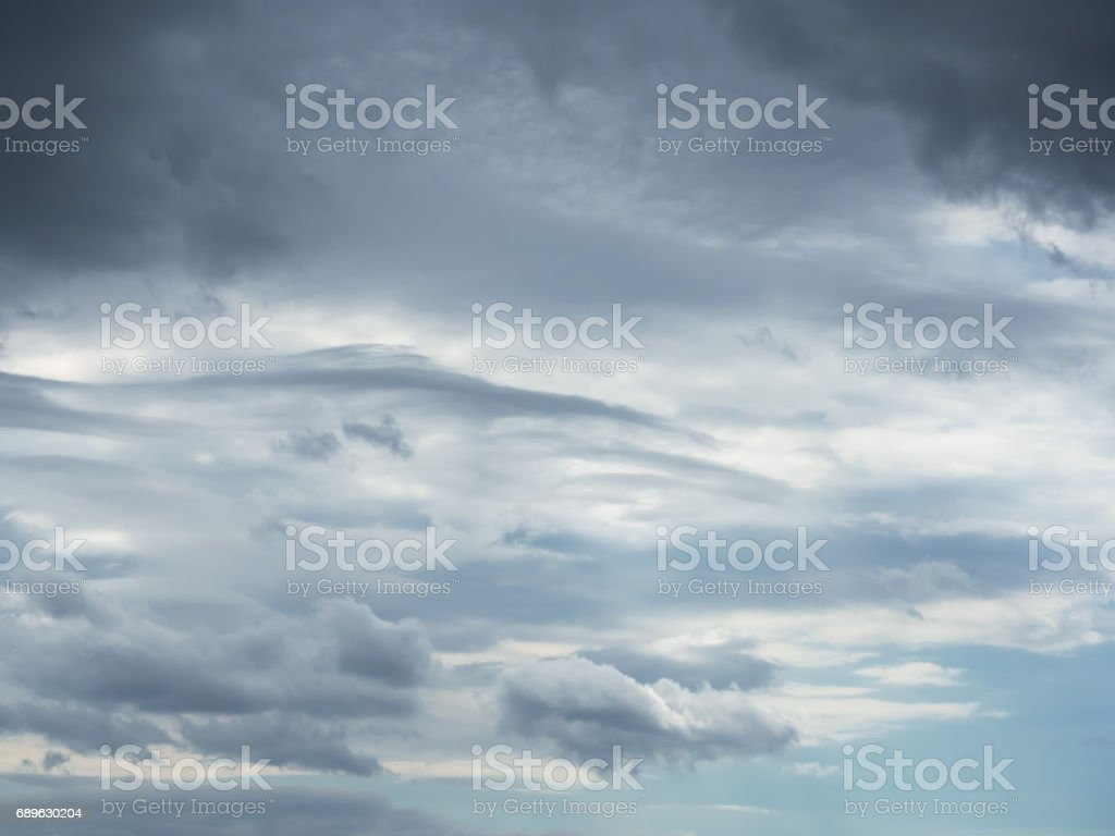 Stormy, dramatic cloudy sky background stock photo