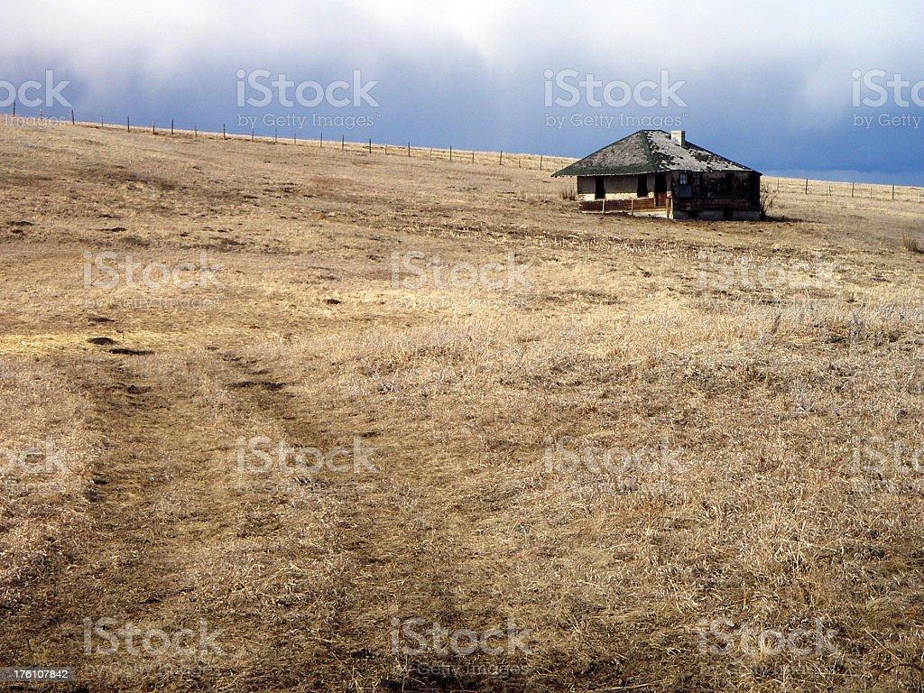 Stormy Hillside stock photo