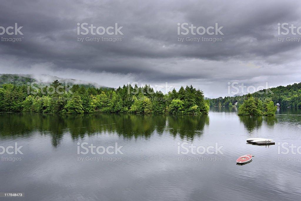 Stormy Lake Scene royalty-free stock photo