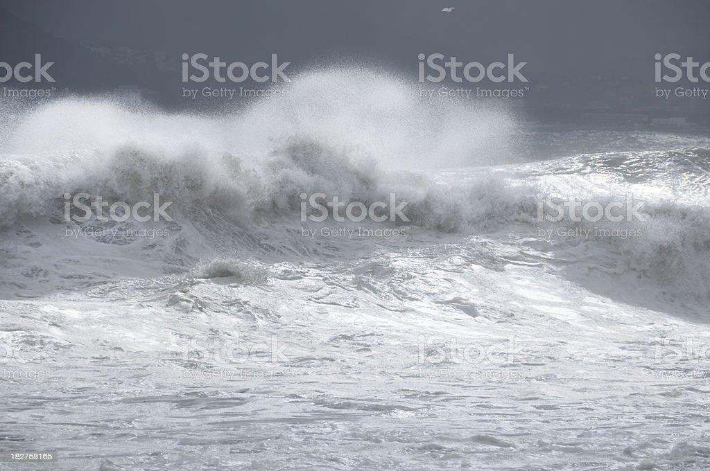 Stormy Mediterranean Sea royalty-free stock photo