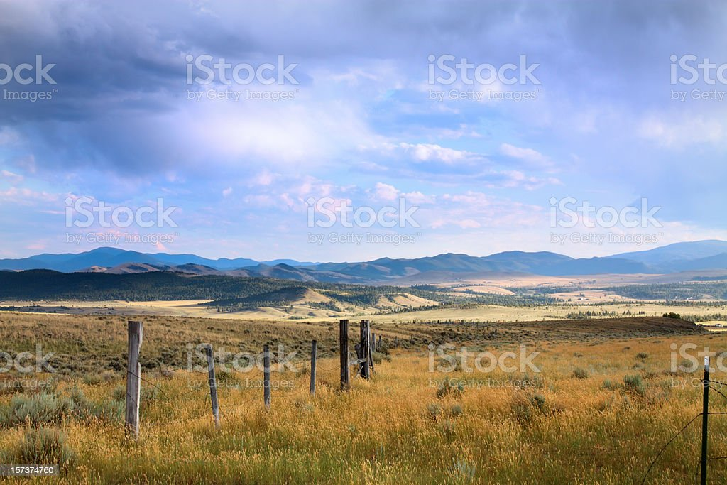 Stormy Montana Sky stock photo