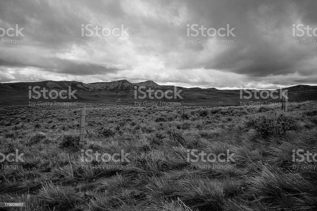 Stormy Mountain Range royalty-free stock photo