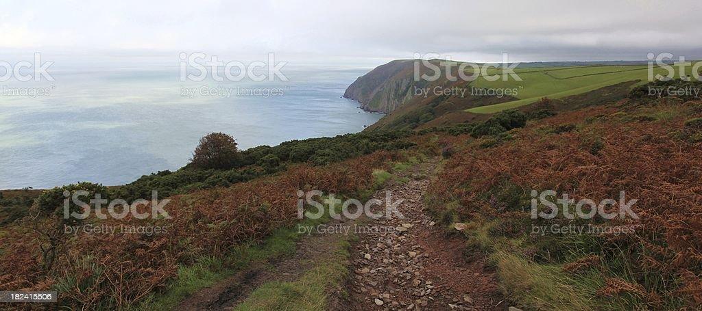 Stormy North Devon Coast stock photo