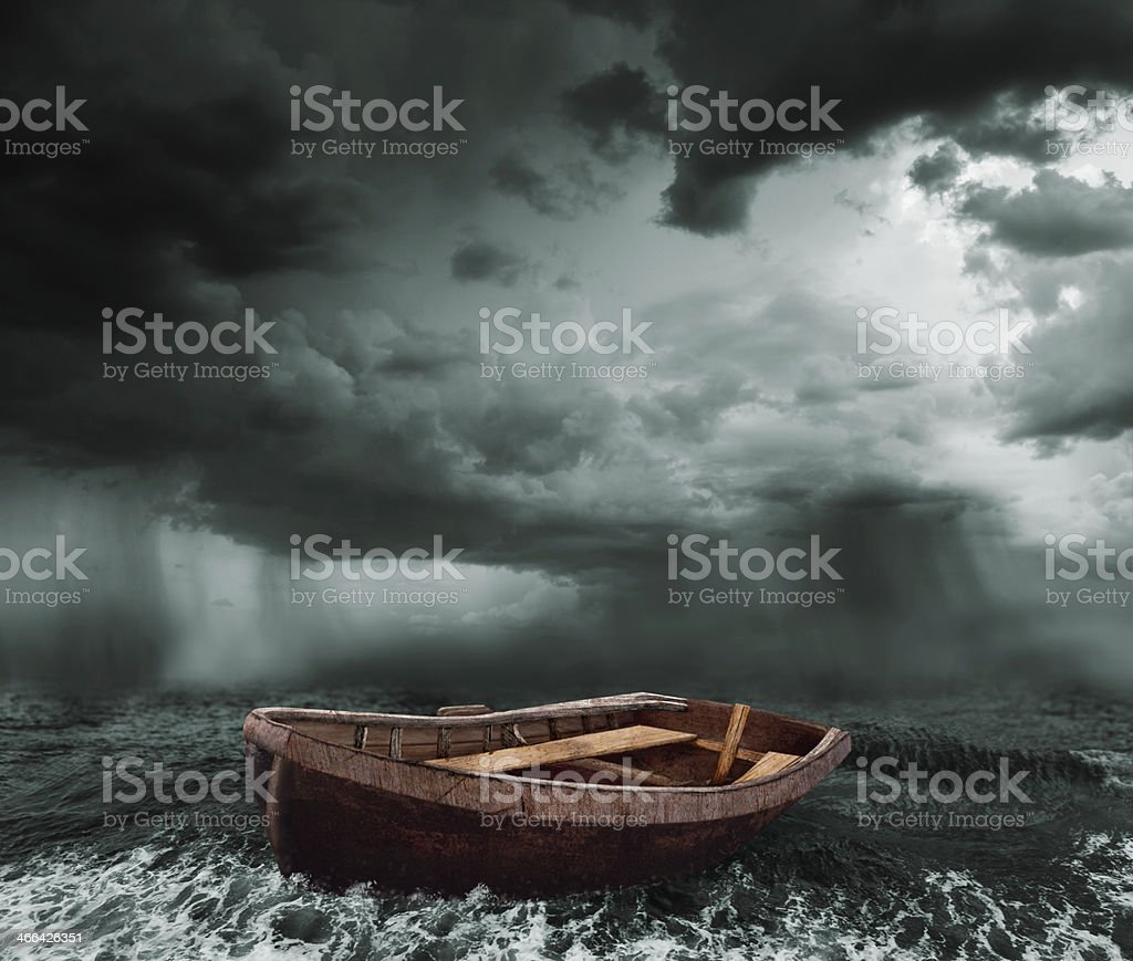 stormy ocean stock photo