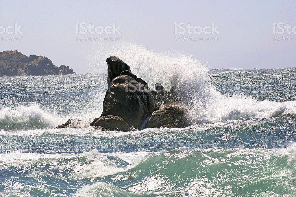 Stormy ocean stock photo