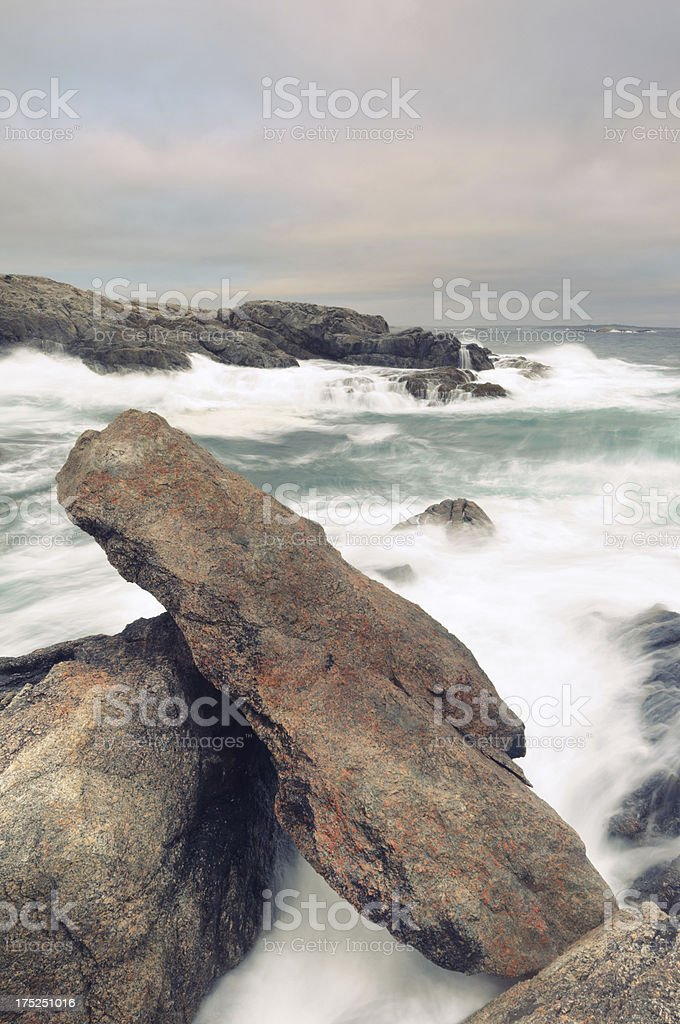 Stormy ocean seascape royalty-free stock photo