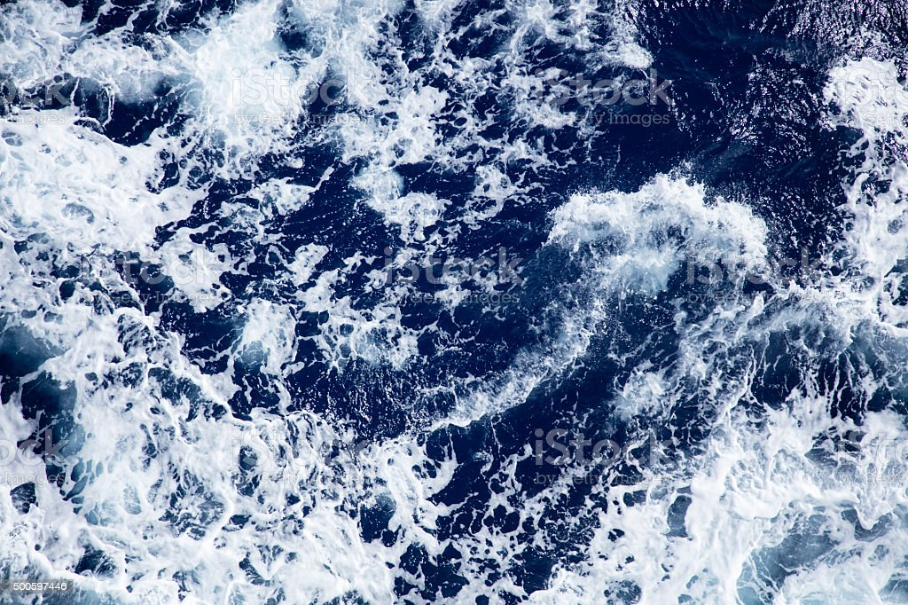 Stormy ocean waves stock photo