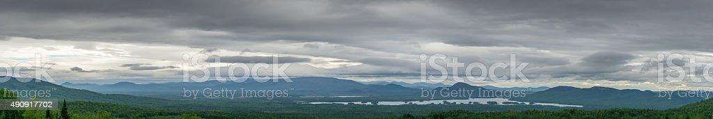 Stormy Panoramic Landscape stock photo