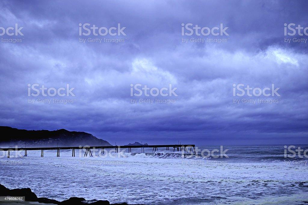 Stormy Pier stock photo