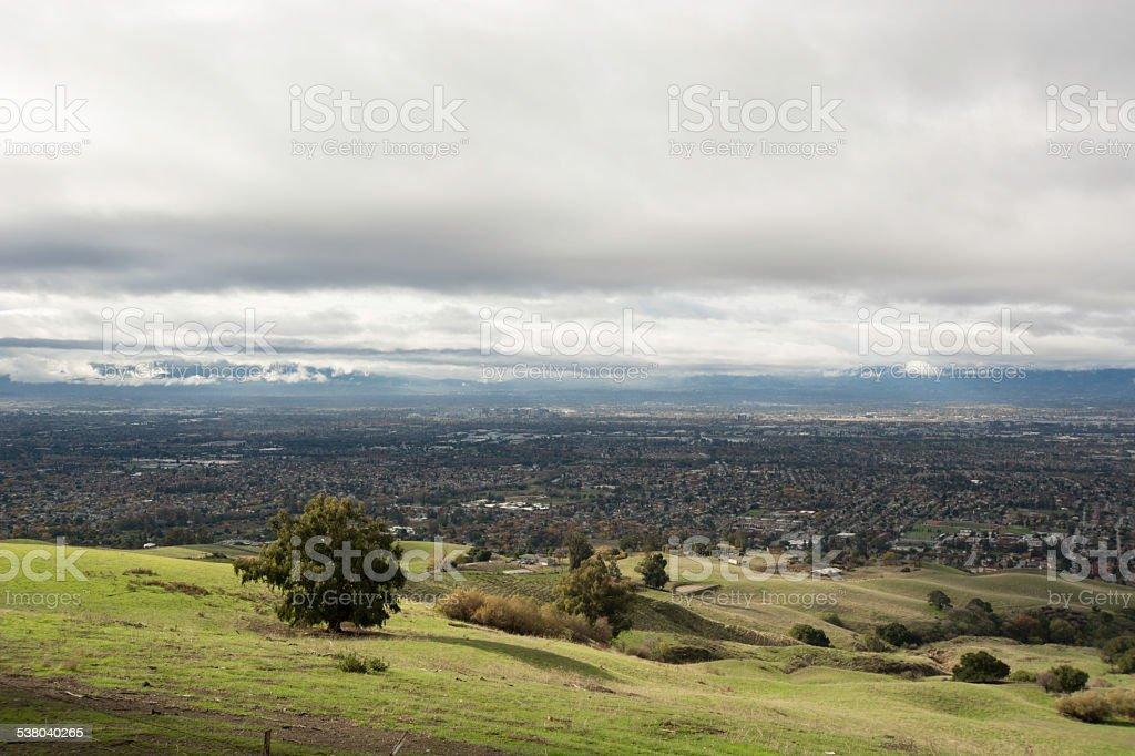 Stormy San Jose stock photo