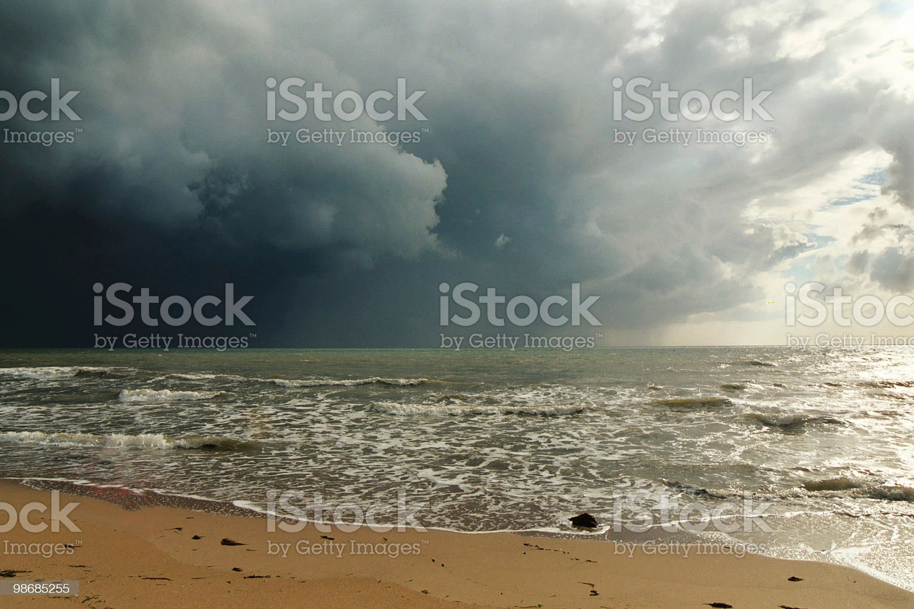 Stormy sea 2 royalty-free stock photo